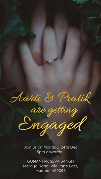 Everlasting Hand on Hand Engagement Invite