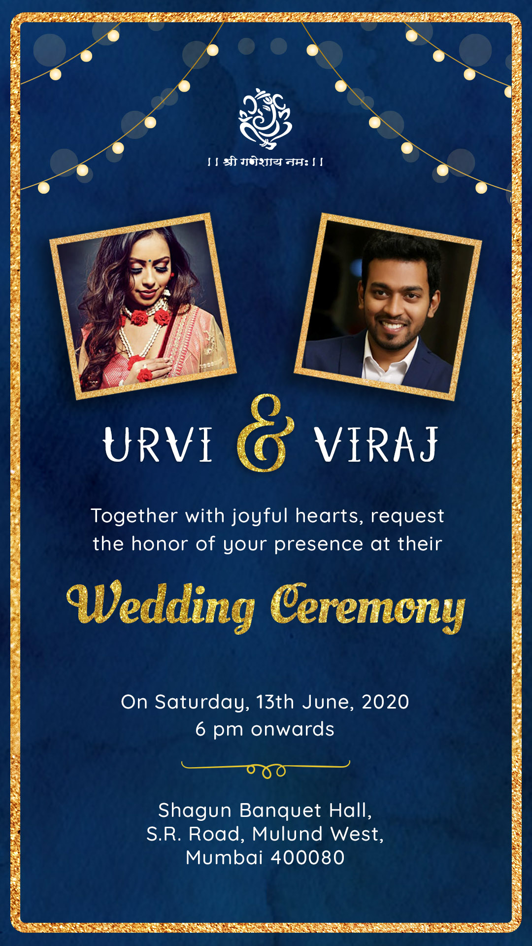 Eternity Love – Wedding Invitation