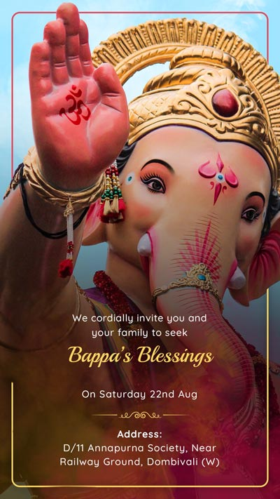 Kingly Ganesha Invitation