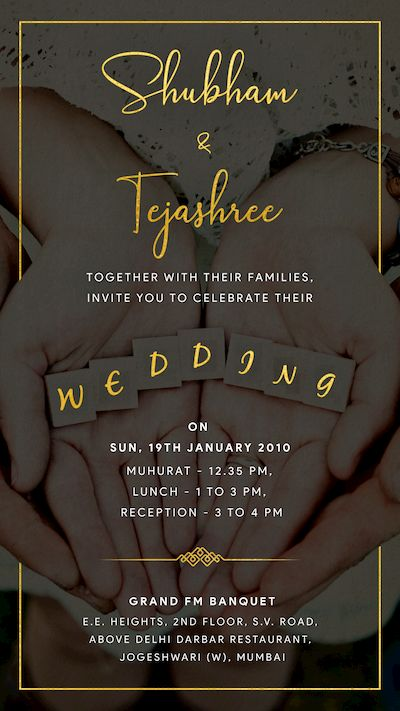 Vows Together – Wedding Invite
